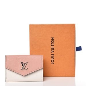 LOUIS VUITTON Calfskin Lockmini Wallet Rose Baller